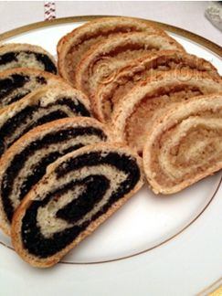 Slovak Rolls, Kolach Rolls. These come from my Slovak Grandmother and were enjoyed at Christmas and other times of the year. Rich yeast dough rolled with fillings of walnut or popy seeds.