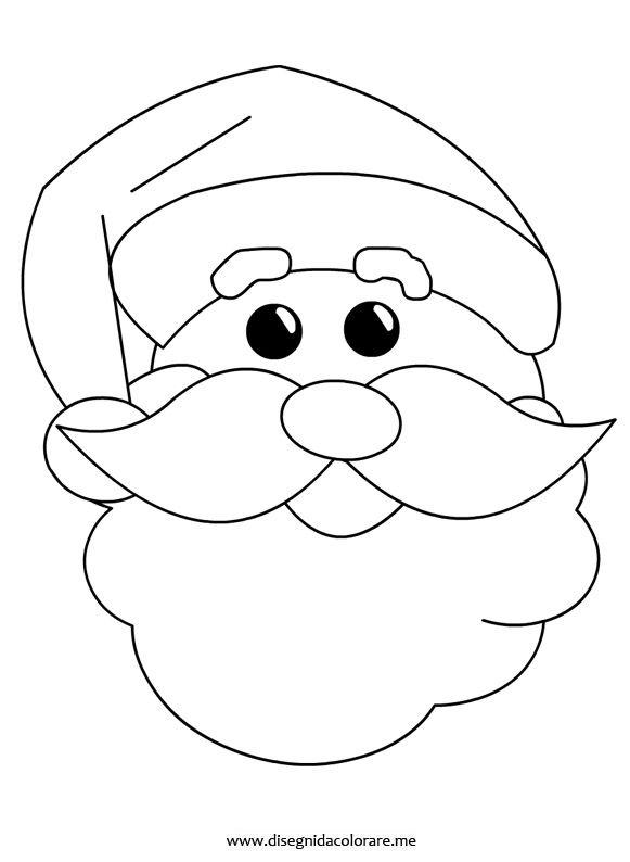 Disegni Di Natale Da Colorare Classe Quinta.Disegno Viso Babbo Natale Natale Babbo Natale Immagini Di Natale