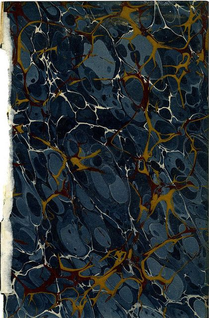 Marbled paper | Antique book patterns