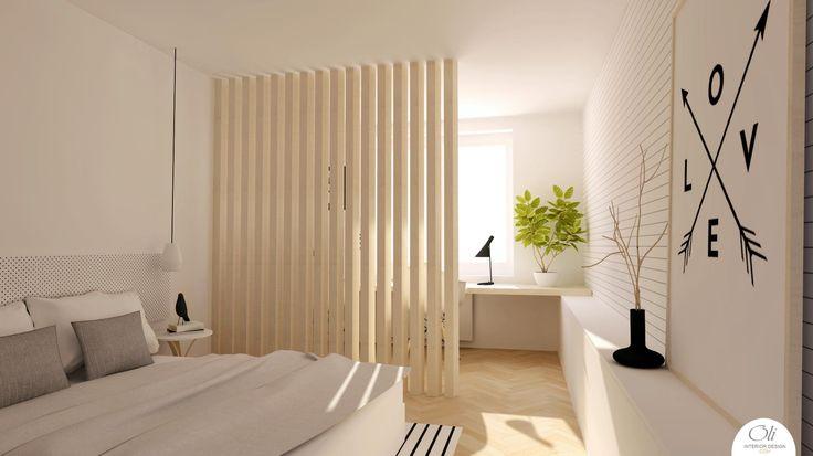 #Bedroom #renovation - 3D Visualization - by Oli Interior Design Studio #modern #monochromatic #scandinavian #interiordesigner #edesign #onlineservice
