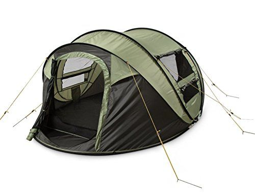 Introducing DANCHEL Instant 45 Person Pop Up Camping Tent Green  Set Up in Lightning Speed for Family Camping Hiking Outdoors Festivals. Great product and follow us for more updates!