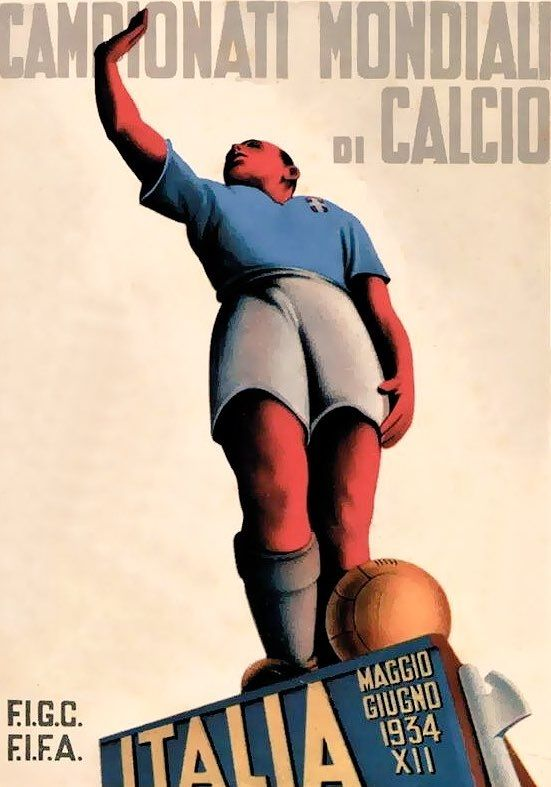Cartaz do Campeonato do Mundo de 1934, em Itália / Poster of the 1934 World Championship in Italy