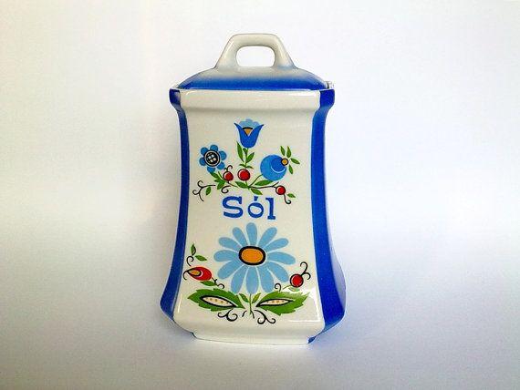 20% OFF Vintage Soviet Era Ceramic Salt by EasternEuropeVintage