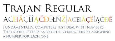 Image result for trajan font