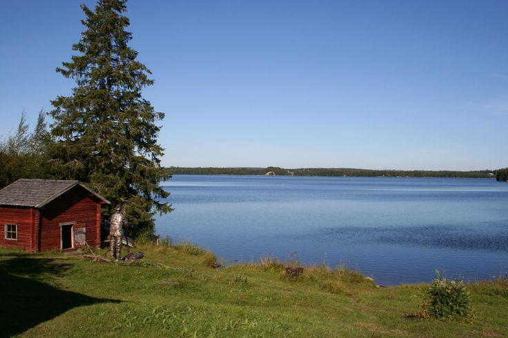The museum Kallioniemi of the Finnish writer professor Kalle Päätalo, just 1 km. from Saija Lodge at the shore of lake Jokijärvi, Taivalkoski, Kuusamo Lapland