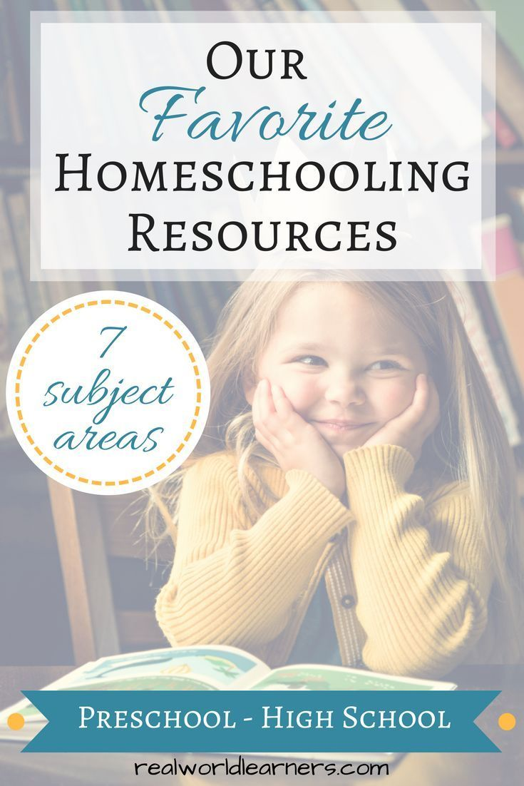 Homeschool Resources - our top recommendations for all ages in 7 subject areas - includes physical curriculum, online programs, and videos. #homeschool #realworldlearners #math #science #reading #writing #musiceducation #preschool #coding #onlinemathprograms
