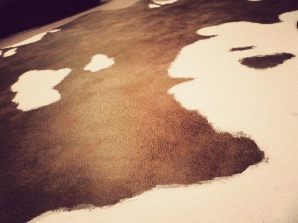 DIY cowhide rug. I want to do this!! It will definitely do the trick until I can afford the real thing!