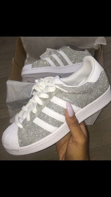 Adidas Superstar. Glitter. Clothing, Shoes & Jewelry - Women - Shoes - women's shoes - http://amzn.to/2jttl6P