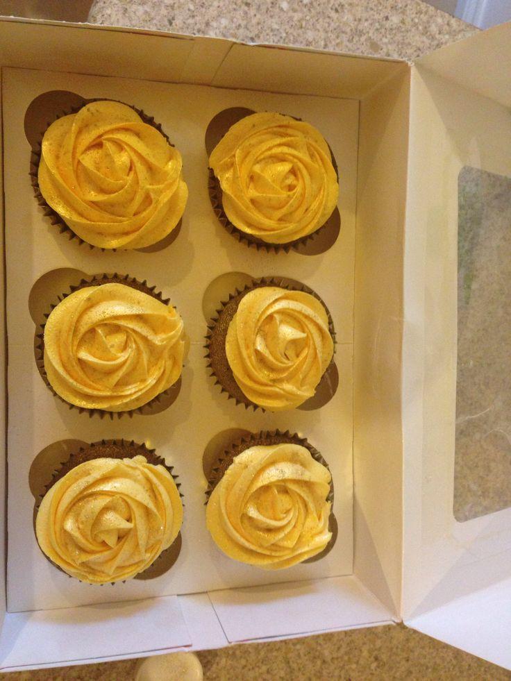 Nikola Coleman Yellow Rose Cupcake
