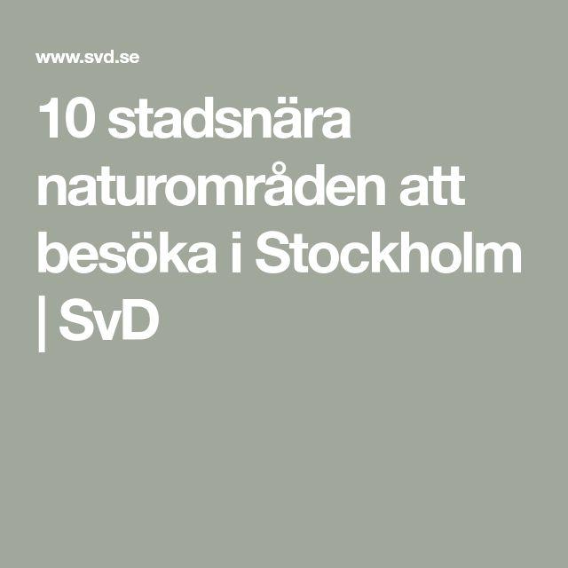 10 stadsnära naturområden att besöka i Stockholm | SvD
