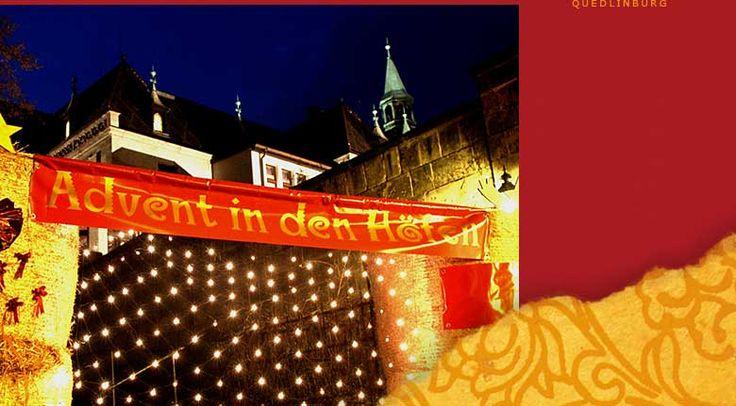 """""""Advent in den Höfen"""" 1., 2. & 3. Adventwochenende, Adventsstadt Quedlinburg, Sachsen-Anhalt"""