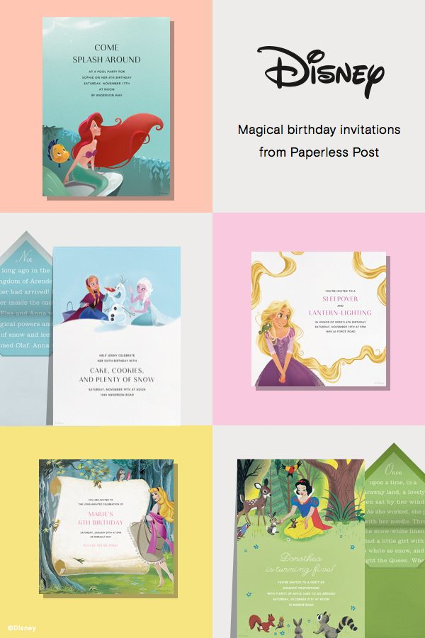 71 best Disney Birthday Invitations from Paperless Post images on ...