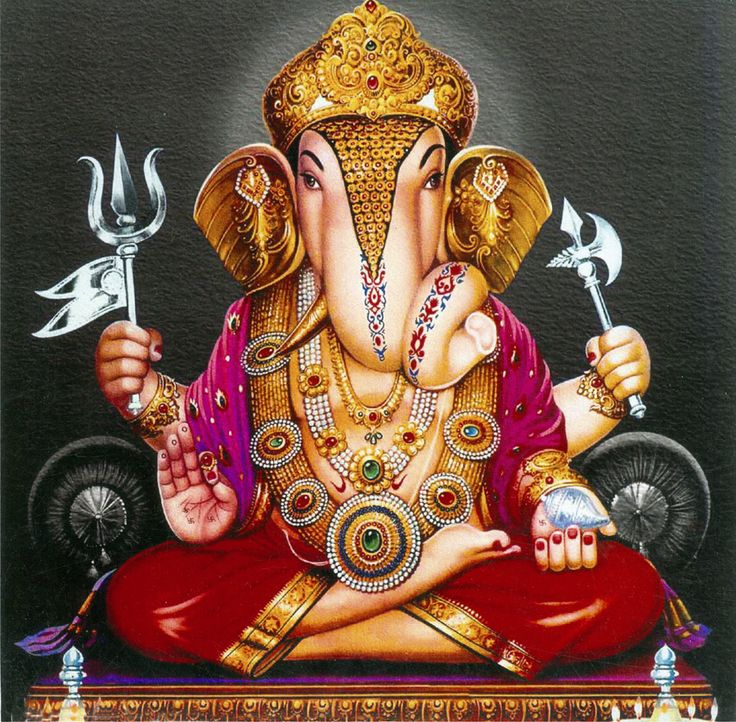 Lord Ganesha (Reprint on Card Paper - Unframed)