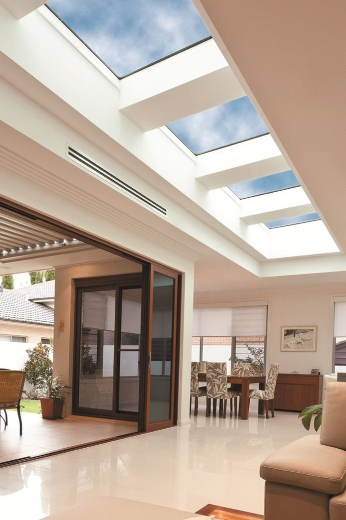 Velux Room Gallery Be Inspired To Install Velux Skylights In Your Home Today In 2020 Flat Roof Skylights Skylight Design Skylight Living Room
