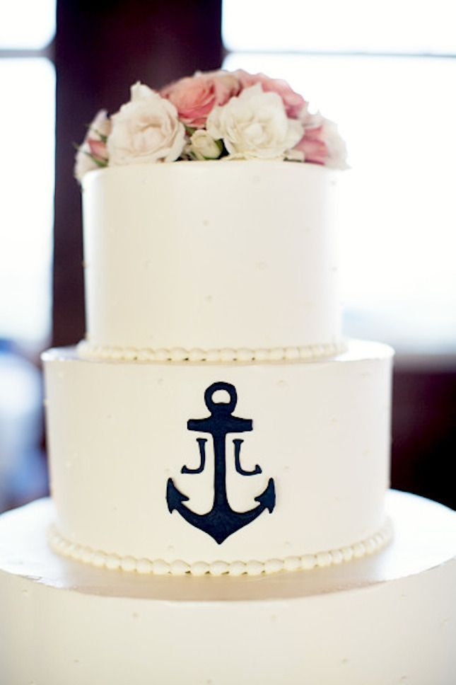 10 Nautical Wedding Cakes {Too Pretty, you may not want to Eat!) » KnotsVilla