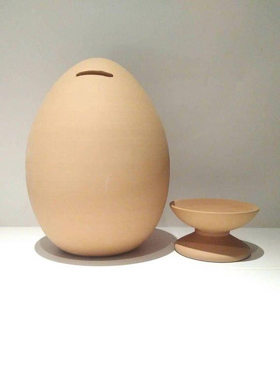 Egg Shaped Piggy bank openable money pot adult piggy bank