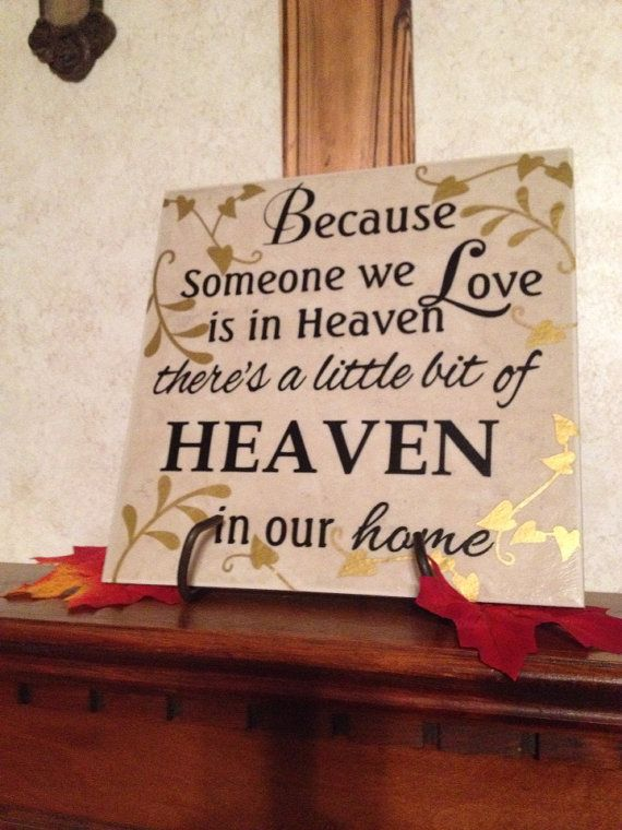 Beautiful Loved One In Heaven Tile On Etsy, $27.50