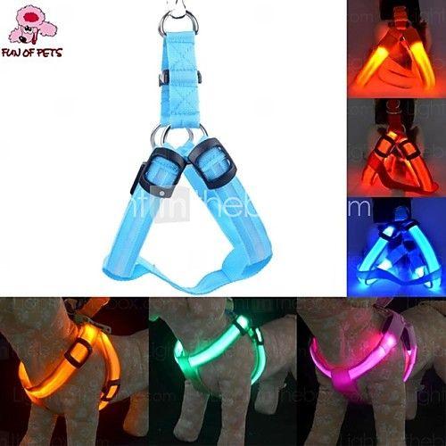 katten / honden harnassen Reflecterend / LED verlichting / Verstelbaar/UitschuifbaarRood / Groen / Blauw / Roze / Geel / Oranje / - EUR €9.79