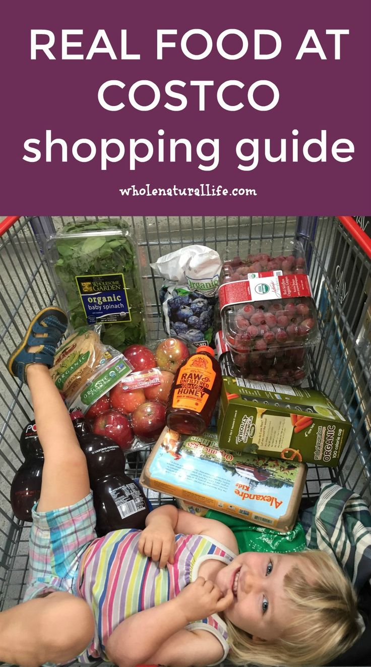 Costco now carries a ton of organic and natural products. Check out this shopping guide for buying real food at Costco.