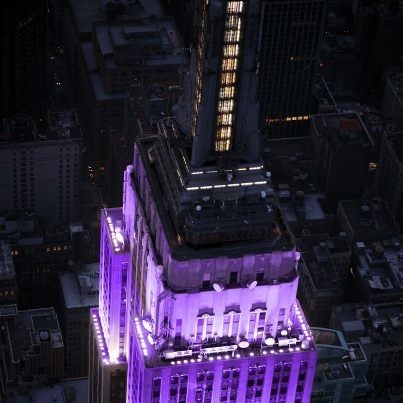 Empire State building goes purple for NYU graduation