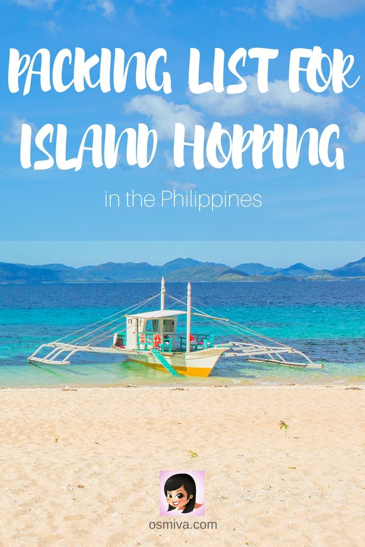 Packing List for Island Hopping in the Philippines #islandhopping #philippines #packinglist #islandhoppingpackinglist #osmiva via @osmiva