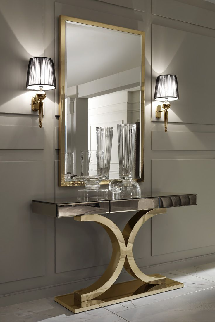 Mirror Wall Designs view in gallery mirror wall design 1 creating fascinating interior spaces with wall mirrors The Large Gold Italian Wall Mirror At Juliettes Interiors Is A Beautiful Statement