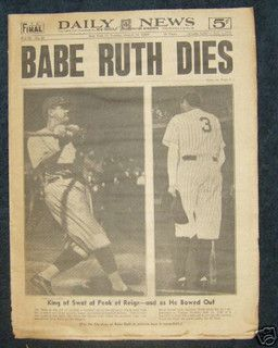 Daily News 1948 Babe Ruth Dies by Photoscream, via Flickr was this a big moment for them?