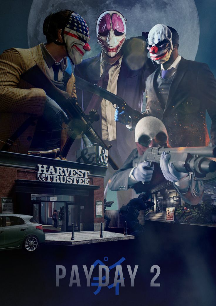 What is listed before you today is an A3 Digital Print (16.5 x 11.7 in) on Quality Print Paper with a Matte Finish.    This poster is my original design, inspired by the Overkill Software game PAYDAY 2. The poster features the four main playable characters; Dallas, Wolf, Chains and Hoxton, as well as the Capitol Art Gallery and Harvest & Trustee Bank, both of which feature as heist locations within the game. All posters are made to order, so please allow 5 – 7 days from date of purchase for…