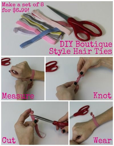DIY Boutique Style Hair Ties