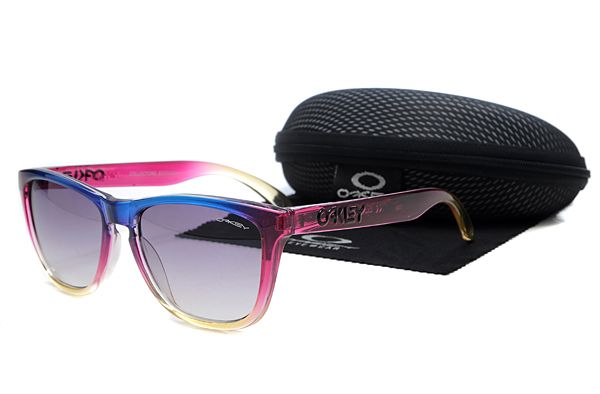 Oakley Frogskins Sunglasses Rose Red Frame Gradient Purple Lens , cheap wholesale  $16 - www.hats-malls.com