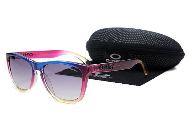 Oakley Frogskins Sunglasses Rose Red Frame Gradient Purple Lens , cheap wholesale  $16 - www.hats-malls.com