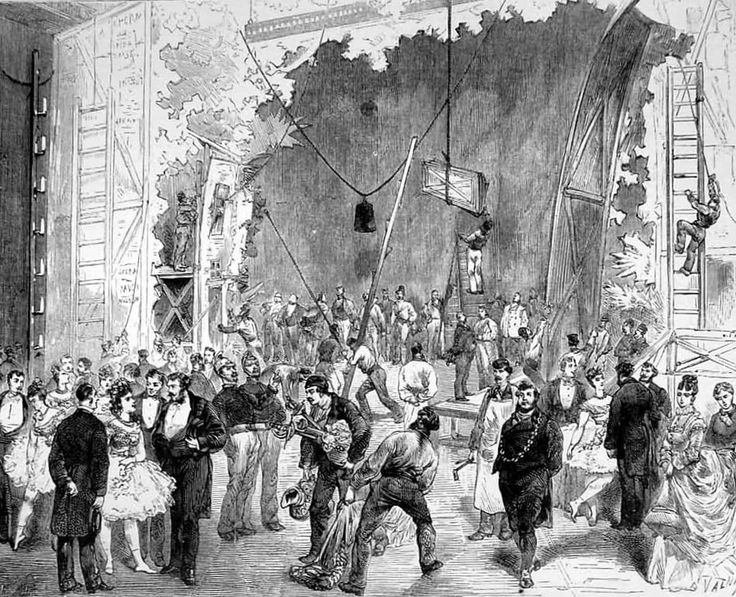 Behind the scenes at the New Paris Opera House The Illusrrated sporting and dramatic news 1875 january 30