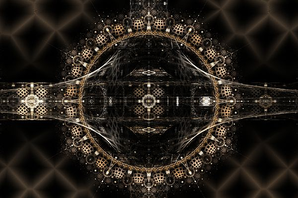 Fractal Digital Art - Web-mirror by Elena Ivanova IvEA    #ElenaIvanovaIvEAFineArtDesign #Print #Decor #Interior #Fractal #Abstraction
