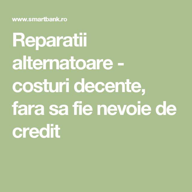 Reparatii alternatoare - costuri decente, fara sa fie nevoie de credit