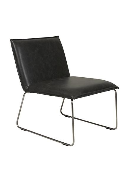 Academy Occasional Chair Available in Chamois or Vintage Black  #sleek # modern www.globewest.com.au