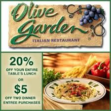 Printable Coupons For Restaurant Olive Garden Lunch Or Mobile