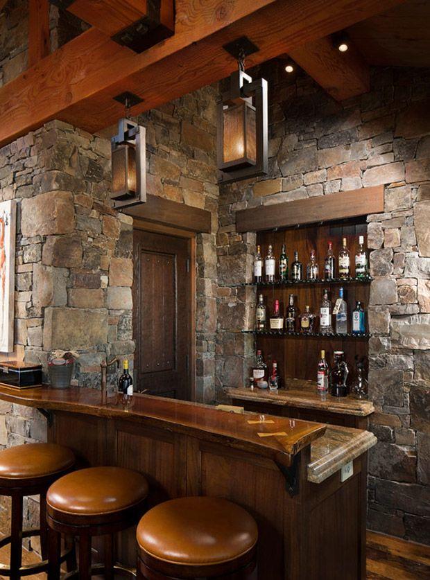 Design Man Cave Dream Rustic Homes Basement Bar Bar Ideas House