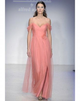 "See the ""Long Salmon Bridesmaid Dress"" in our  gallery"