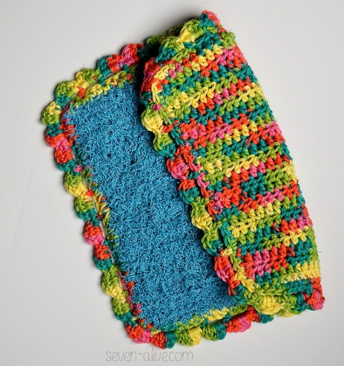 Double Sided Scrubby Dish Cloth Cotton Yarn Projects Crochet