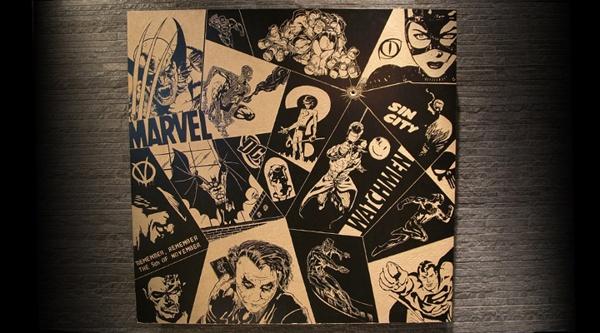 co.mix by teokon , via Behance  #woodcuts #comix #wolverine #ironman #spiderman #hulk #catwoman #riddler #V #vendetta #batman #dc #mrfreeze #rorschach #watchmen #joker #twoface #theflash #flash #iceman #superman #sincity