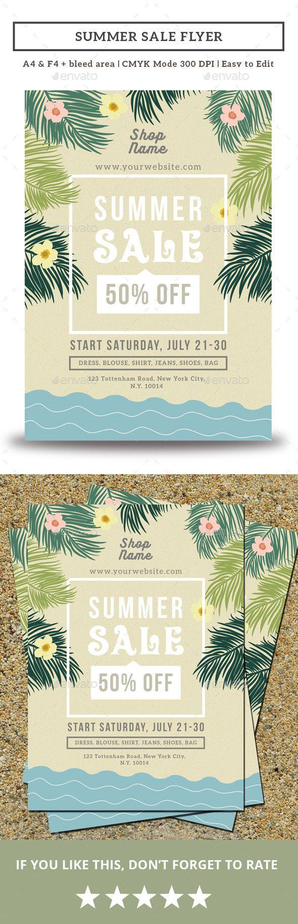 Summer Sale Flyer Template PSD. Download here: https://graphicriver.net/item/summer-sale-flyer/16930399?ref=ksioks