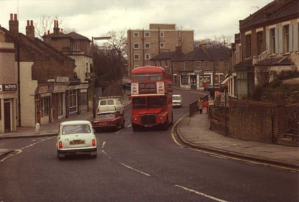 plumstead common - 1970s bus and cars, when I lived here.