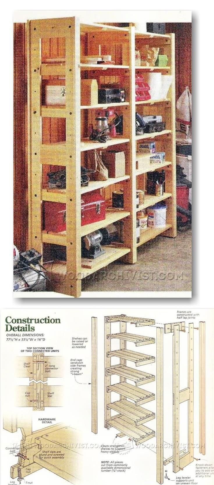 Modular Storage Shelving Plans   Workshop Solutions Projects, Tips And  Tricks | WoodArchivist.com