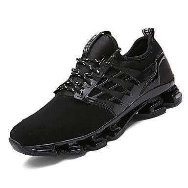 Unisex-Tacón Plano-Confort-Zapatillas de deporte-Informal-PU-Negro Rojo 5287724 2017 – $32.39