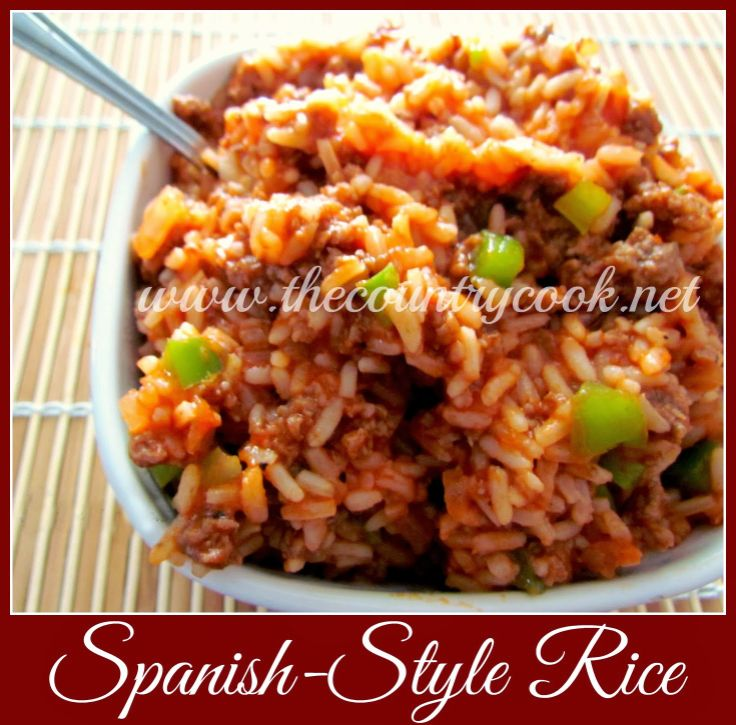 12 best rice images on pinterest cook beef recipes and best spanish style rice using pre cooked white rice and ground beef easy stir together recipe food and drink ccuart Choice Image