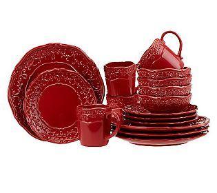 Temp-tations Vintage Grace 16-piece Stoneware Dinnerware Set  sc 1 st  Pinterest & 141 best Temptations Bakeware/Dinnerware images on Pinterest ...