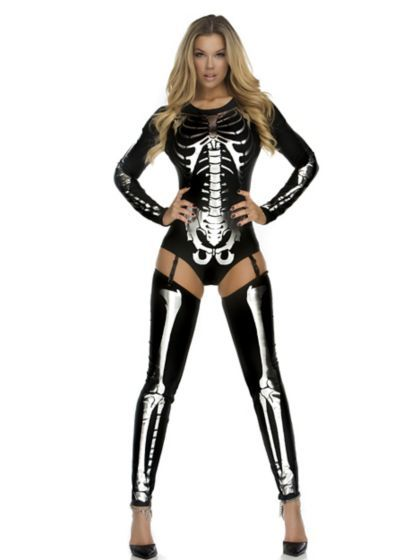 Women's Sexy Snazzy Skeleton Costume - Horror Costumes for Adults