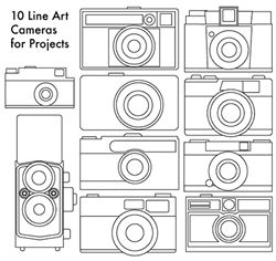 Make This - Line Art Cameras forProjects - Luxe DIY - How Did You Make This?