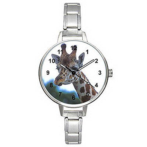 BMTC089 Giraffe Stainless Steel Italaian Charm Bracelet Mens Ladies Wrist Watch ** Find out more at the image link.