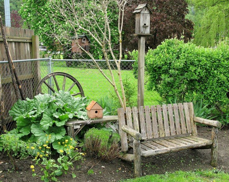 a nice spot to rest in the garden